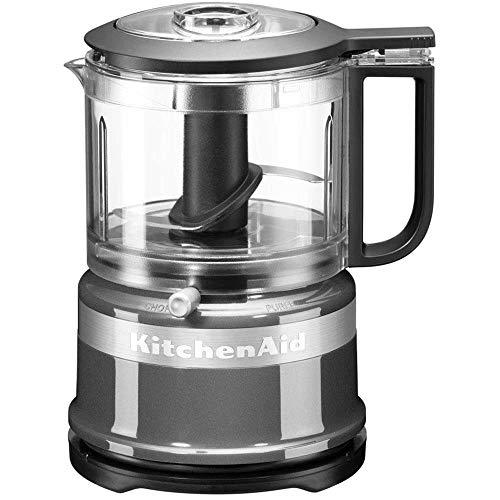 KitchenAid 5KFC3516, Mini-Food-Processor, Großartig zum Hacken, Vorbereiten von Dressings und Saucen, Kontur-Silber
