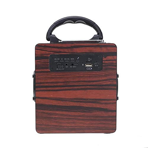 XIAOLULU Spieluhr für Mädchen Geschenke 12W Bluetooth-Lautsprecher Wireless Stereo Vier Louder Subwoofer aus Holz Audio Desktop-Sound Box Music Player (Farbe : Braun, Größe : 1)