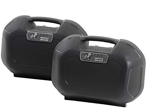 H&B Motorradkoffer Seitenkoffer Orbit Paar 28 Liter für C-Bow, Unisex, Multipurpose, Ganzjährig, Kunststoff, schwarz