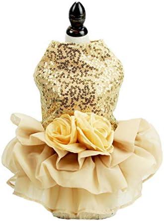 Bling Dog Dress Tutu Skirt Flower Dog Pet Cat Luxury Princess Wedding Dress Summer Dog Chihuahua product image