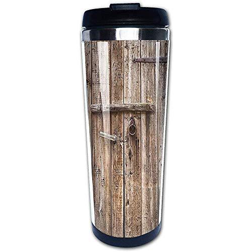 400ml Alte Eiche geschlossen Garagentor Stahl Kaffeetasse auslaufsicher isoliert Becher
