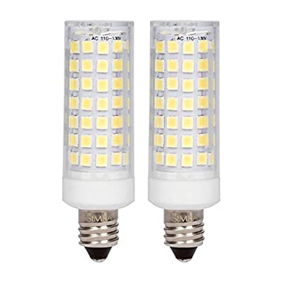 Simba Lighting LED E11 6W 500lm 76SMD2835 Corn Light Bulb 50W Halogen Replacement 120V for Chandeliers, Cabinet Lighting, Mini-Candelabra Base, Daylight 6000K Dimmable
