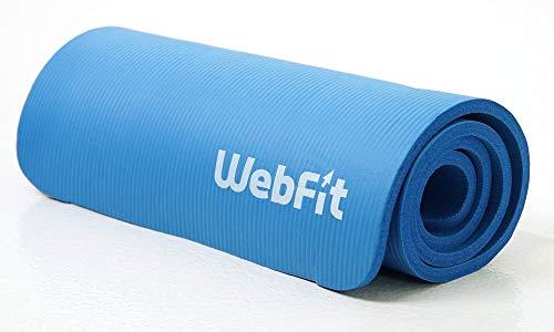 WebFit Tappetino Fitness, Yoga, Pilates, Ginnastica, Stretching, Gravidanza, Unisex, Antiscivolo con Cinturino Raccolta, 190x61x1,5cm