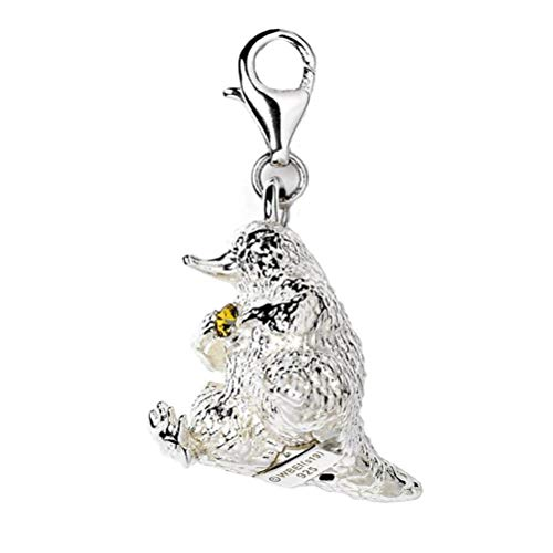 The Carat Shop Fantastische Tiere Sterling Silber Niffler Clip auf Charm mit Swarovski-Kristallen