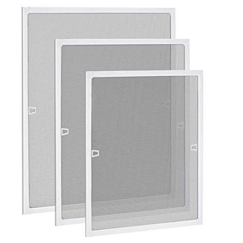 JYMTOM Fliegengitter Fenster Fliegenschutzgitter Insektenschutzrahmen Spannrahmen Mückengitter mit Aluminium Rahmen ohne Bohren und Schrauben,120 * 140cm,Weiß