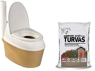 Agande Inodoro de compostaje WC-B 500 Torf Bio, Inodoro de