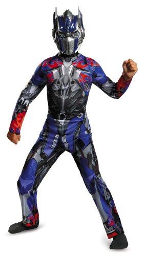 Hasbro Transformers Age of Extinction Movie Optimus Prime Classic Boys Costume, Medium/7-8