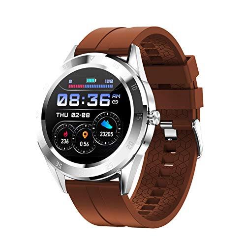 ibasenice Deportes Reloj Inteligente Redondo de Aleación de Silicona Reloj de Fitness con Frecuencia Cardíaca para Mujeres Hombres Llamadas Al Aire Libre Deportes Salud Regalos de