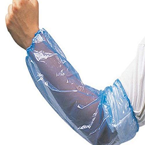 """Liberty 2818B Polyethylene Disposable Sleeve Cover with Elastic Ends, 18"""" Length, Blue (Case of 2000)"""