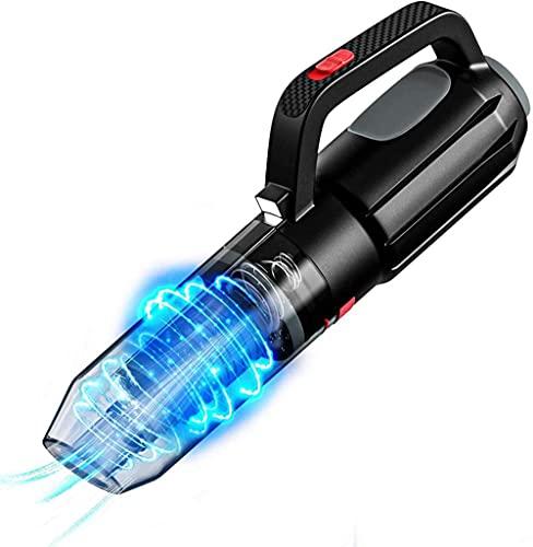 hwbq Potente aspirador de mano ligero inalámbrico LED luz/recargable/portátil filtro de coche aspirador para coches y casas
