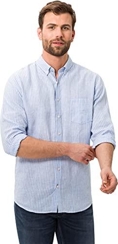 BRAX Dries Airwasehd Linen Camicia, Blu (Blau 28), XXX-Large Uomo