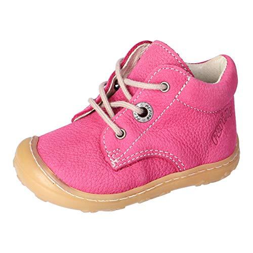 RICOSTA Mädchen Lauflern Schuhe Cory von Pepino, Weite: Weit (WMS),terracare, Freizeit schnürschuh schnürstiefelchen flexibel,pop,26 EU / 8 Child UK