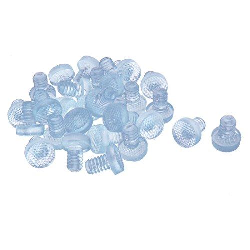 sourcingmap 30 Stk 8 mm T-förmig Gummi Flaschenverschluss für die Versiegelung Klar DE de