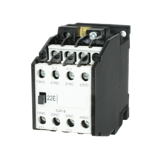 Aexit CJX1-9 AC Distribution electrical Contactor 110V 50Hz Coil 9A 3-Phase 3-Pole 2NO + 2NC