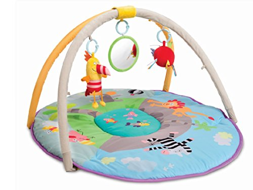 Taf Toys Jungle Pals Gym with Play Mat | Best for New-Born & Babies, Easier Development & Parenting, Colourful, Thickly Padded Mat, Lightweight, Portable, Detachable Baby Play Gym, Best Gift