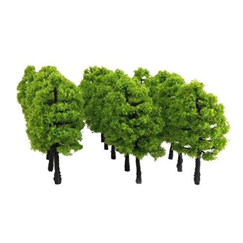 20pcs 1,38 Inches Muster Bäume Bäume Being 1: 100 Mini-kunststoff-kunstbäume Für Crafting Hobby Oder Gebäudemodell