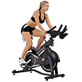 Sunny Health & Fitness Asuna Minotaur Cycle Exercise Bike - Magnetic Belt Drive High Weight Capacity Commercial Indoor Cycling Bike