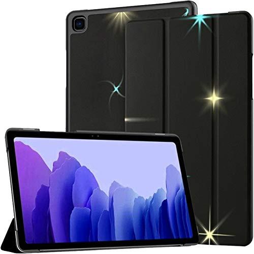 Funda para Samsung Galaxy Tab A7 Tablet 2020 de 10,4 Pulgadas (sm-t500 / t505 / t507), colección Sparkling Stars aislada en Negro Funda con Soporte de múltiples ángulos con activación/suspensión au