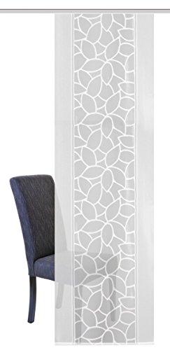 Home Fashion Schiebevorhang Jacquard, Polyester, Weiß, 225 x 57 cm