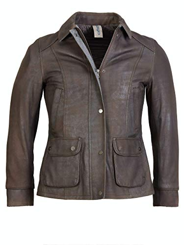Offset Lederjacke Abisha (Brown, M)