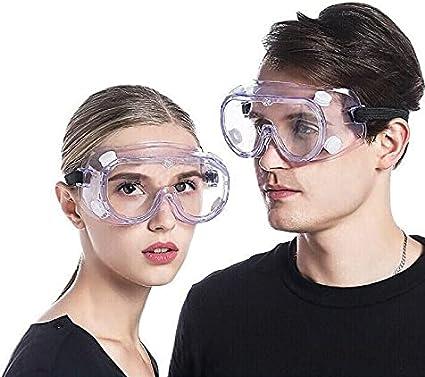 SOLIGAR Gafas de Seguridad para Trabajo - Lentes Antivaho Prevención al Polvo a Prueba de Impacto - Comodidad a Prueba de Viento, Anti Salpicaduras para Protección Laboratorio, Agricultura, Industria