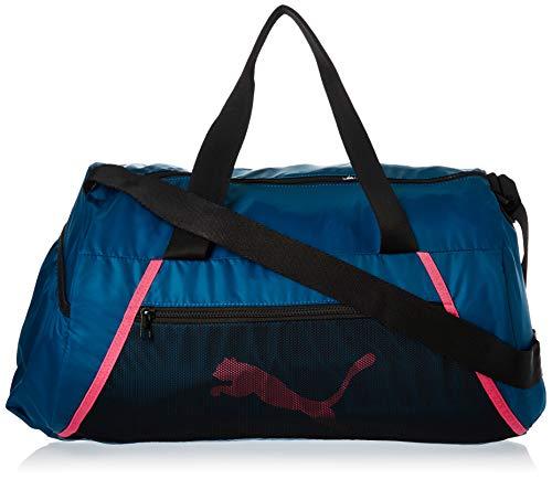 PUMA Damen at ESS Barrel Bag Sporttasche, Digi-Blue Black-Luminous Pink, OSFA