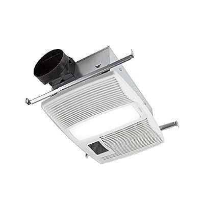 Broan-Nutone QTX110HL Very Quiet Ceiling Heater, Fan, and Light Combo for Bathroom and Home, 0.9 Sones, 1500-Watt Heater, 60-Watt Incandescent Light, 110 CFM,White