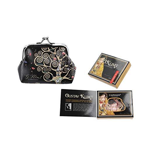 Carmani – Kleine Damen-Geldbörse mit Gustav Klimt