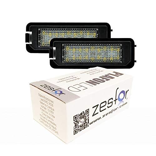 Zesfor Luces de matrícula LED para Seat Leon III (2013-2018)