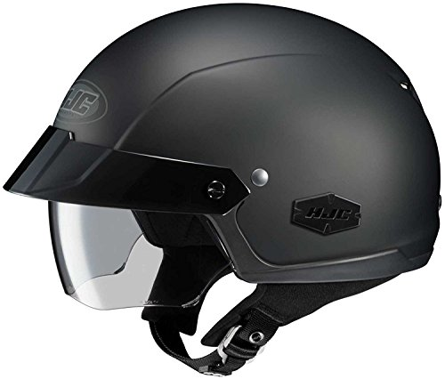 HJC Solid IS-Cruiser Half (1/2) Shell Motorcycle Helmet - Matte Black/Large