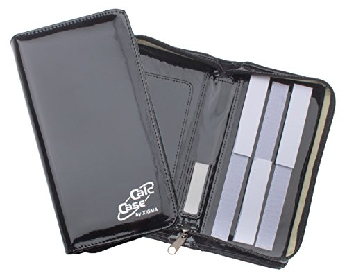 Original CalcCase Schutztasche für Grafikrechner, Lack, Schwarz