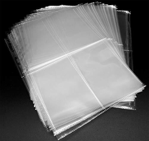 105 x 155 mm Photo Postcards Postkarten 100 Docsmagic.de 4 x 6 Soft Sleeves