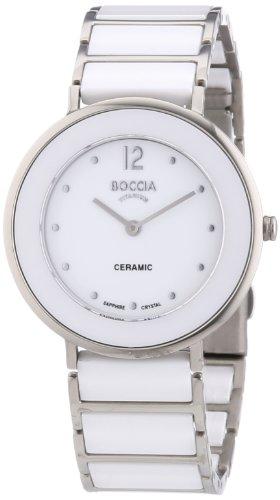 Boccia Damen-Armbanduhr Analog Quarz Keramik 3209-01