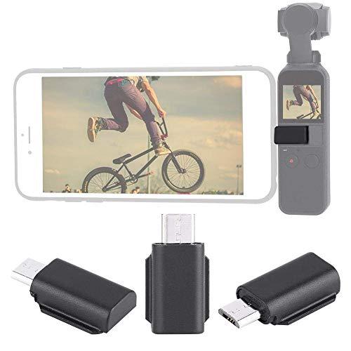 Adaptador de conector de teléfono para iOS/Android/Type-C (opcional) de teléfono inteligente a cámara de cardán de mano de bolsillo OSMO (Android positivo)
