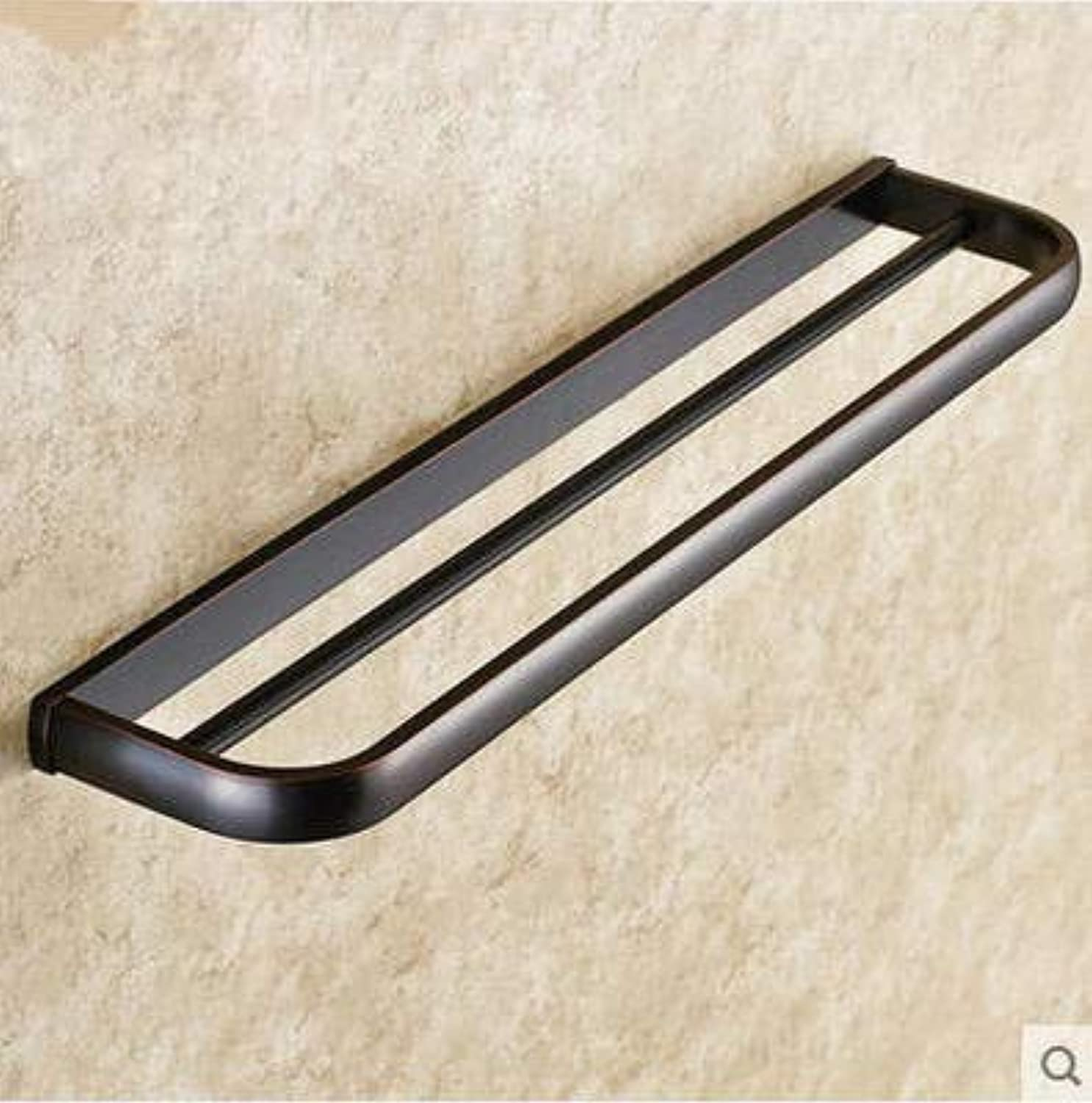 Bathroom Sink Basin Lever Mixer Tap Bath Towel Rack Retro Bronze Black Bronze Bath Towel Rack Simple Black Bronze Bathroom Pendant Bathroom Bath Towel Rack