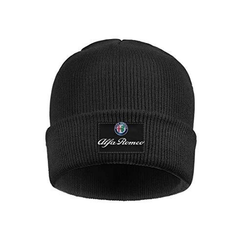 Gorro de Punto para Hombre y Mujer Alfa-Romeo-Logo-Style Gorra de Reloj Deportivo de Lana cálida
