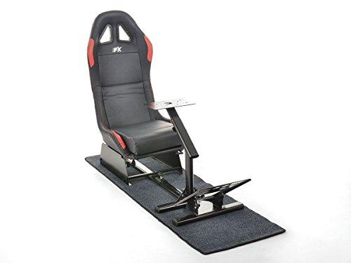 FK-Automotive FK Gamesitz Spielsitz Rennsimulator eGaming Seats Suzuka schwarz/rot mit Teppich FKRSE17931