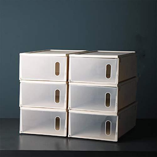 Un Color 6 Piezas Tipo De Cajón Tipo Clamshell Engrosado Gabinete Caja De Zapatos De Plástico Transparente Caja De Almacenamiento De Zapatos Artefactos Caja De Almacenamiento De Zapatos,Apricot