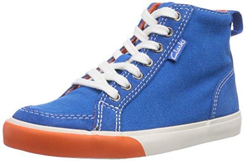 Clarks Kids Club Pop Inf, Zapatillas Altas para Niños, Azul-Blau (Blue Combi), 30 EU