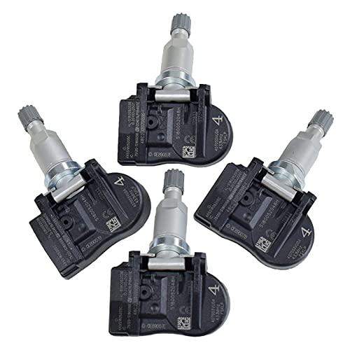Nearandfar Sensor de Neumaticos, 4pcs Nuevo Sensor de presión de neumáticos 40700-3VU0A 407003VU0A TPMS Sensor para Renault Espace Opel Nissan 433MHz Coche Auto Accesorios