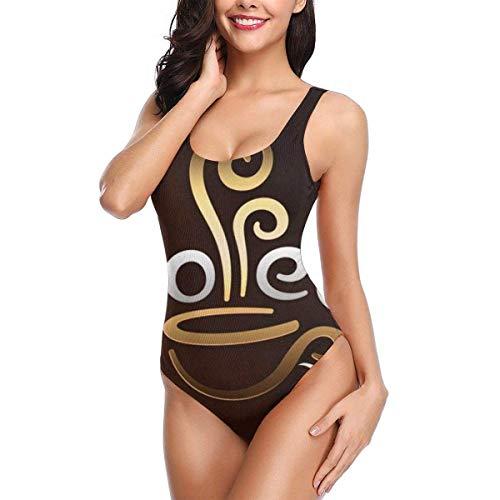 QUEMIN Impression Flower Damen Badeanzug für Damen Schnell trocknende elastische Badeanzüge Sexy Badeanzug, S.