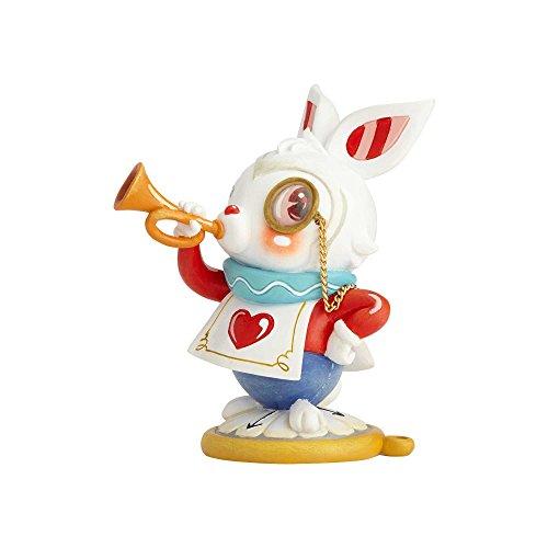Miss Mindy Presents Disney El Conejo Blanco, Resina, Multicolor, 8x6x10 cm