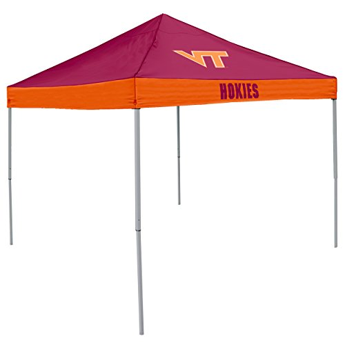 Logo Brands NCAA Virginia Tech Hokies Unisex Adult Economy Canopy Tailgate Tent, Multicolor, One Size