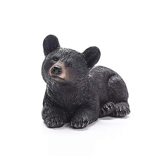 FDGDHH Esculturas Y Accesorios DecorativosResina Artesanías Adornos De Animales Oso Negro Colección De Arte para Bebés Regalos