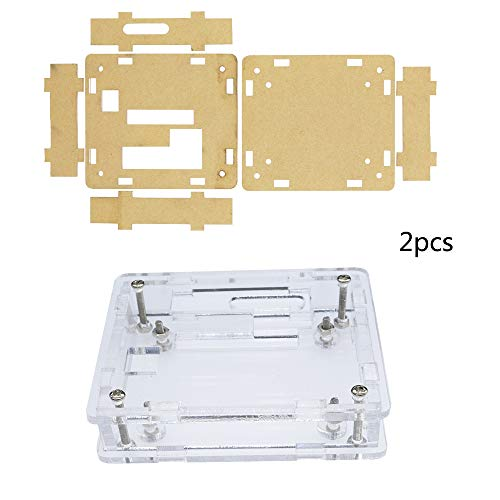 Diymore 2pcs Matching Case W1209 Digital LED DC 12V Heat Cool Thermostat Temperature Switch On/Off Controller Board Acrylic Box