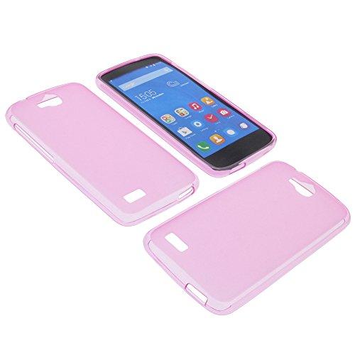 foto-kontor Tasche für Huawei Honor Holly Gummi TPU Schutz Hülle Handytasche pink