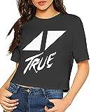 Photo de T-shirt sexy à manches courtes avec imprimé avi-cii - Noir - M