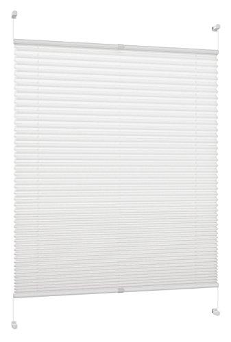 DecoProfi PL01075130 plisado, tensores, con Pinza de Soporte/Fijación/sin Necesidad de taladrar, Blanco, 55 cm x 130 cm