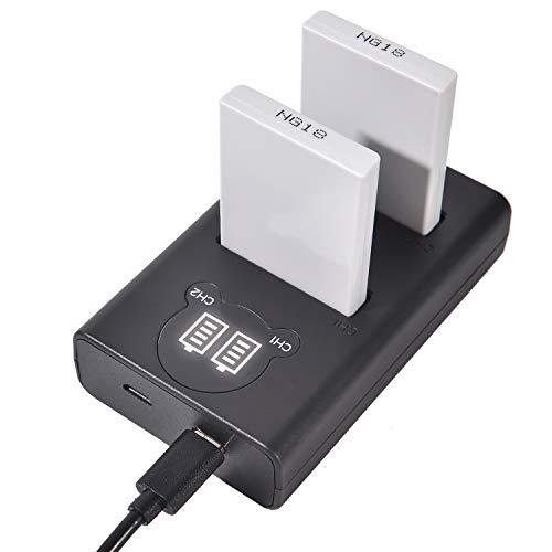 DSTE EN-EL5 Batería Recargable (Paquete de 2) y Cargador USB Dual LED Inteligente compatibles con Nikon Coolpix P80 P90 P530 P5000 P5100 7900 P6000 P500 P510 P520