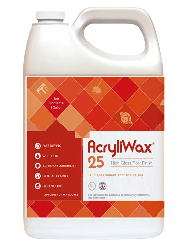 Acryliwax 25 High Gloss Commercial Floor Wax & Floor Finish 1 Gallon…